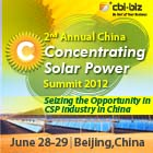 The 2nd China Concentrating Solar Power Summit 2012 Will Be Held in June Seizing the Opportunity in CSP Industry in China