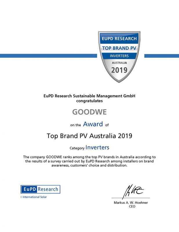 GoodWe Awarded EuPD Research Top Brand PV Seal for Australia-PVTIME