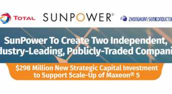 SunPower To Create Two Independent, Industry-Leading, Publicly-Traded Companies