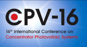 16th International Conference on Concentrator Photovoltaic Systems (CPV-16) Cancelled