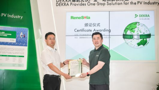 Dekra Awards ReneSola the Certificate of Acceptance of Witnessed Laboratory